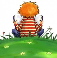 child_reading_clipart