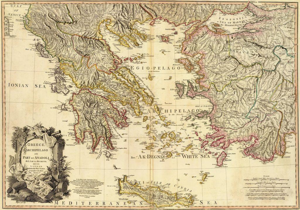 χάρτης ελλάδας 18ος αιώνας