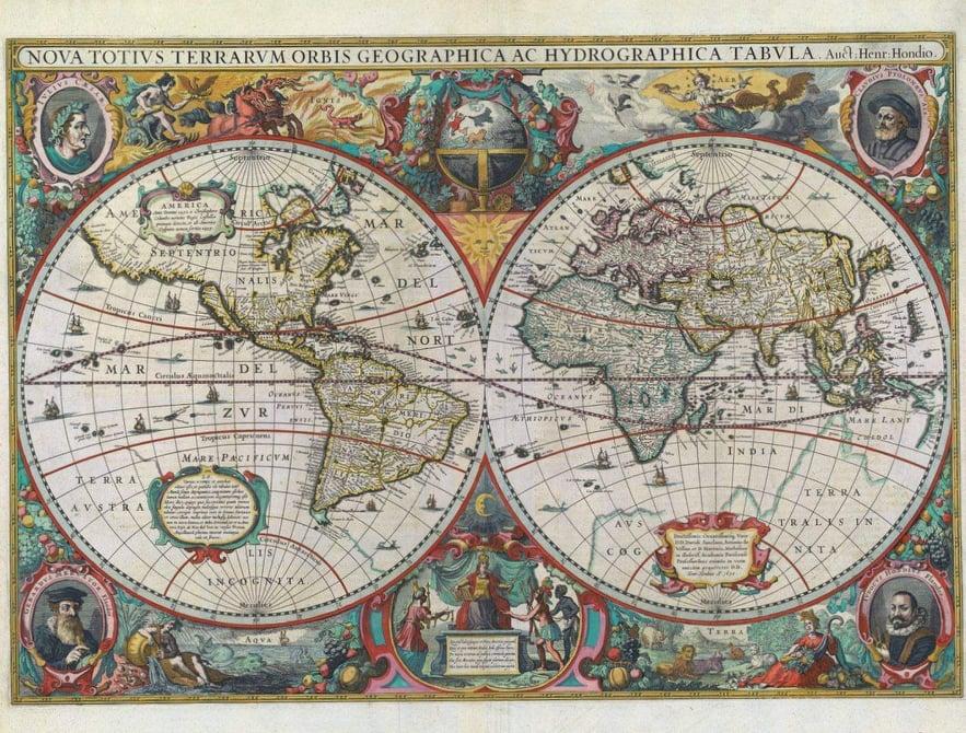 παγκόσμιος χάρτης1500